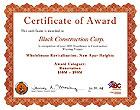 Certificate of Award